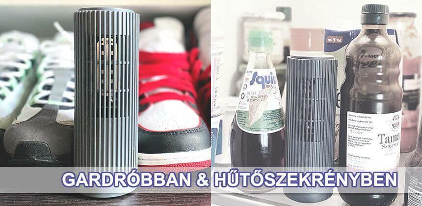 Ionkini ózonos fertőtlenítő ionizátor cipős szekrénybe és hűtőbe