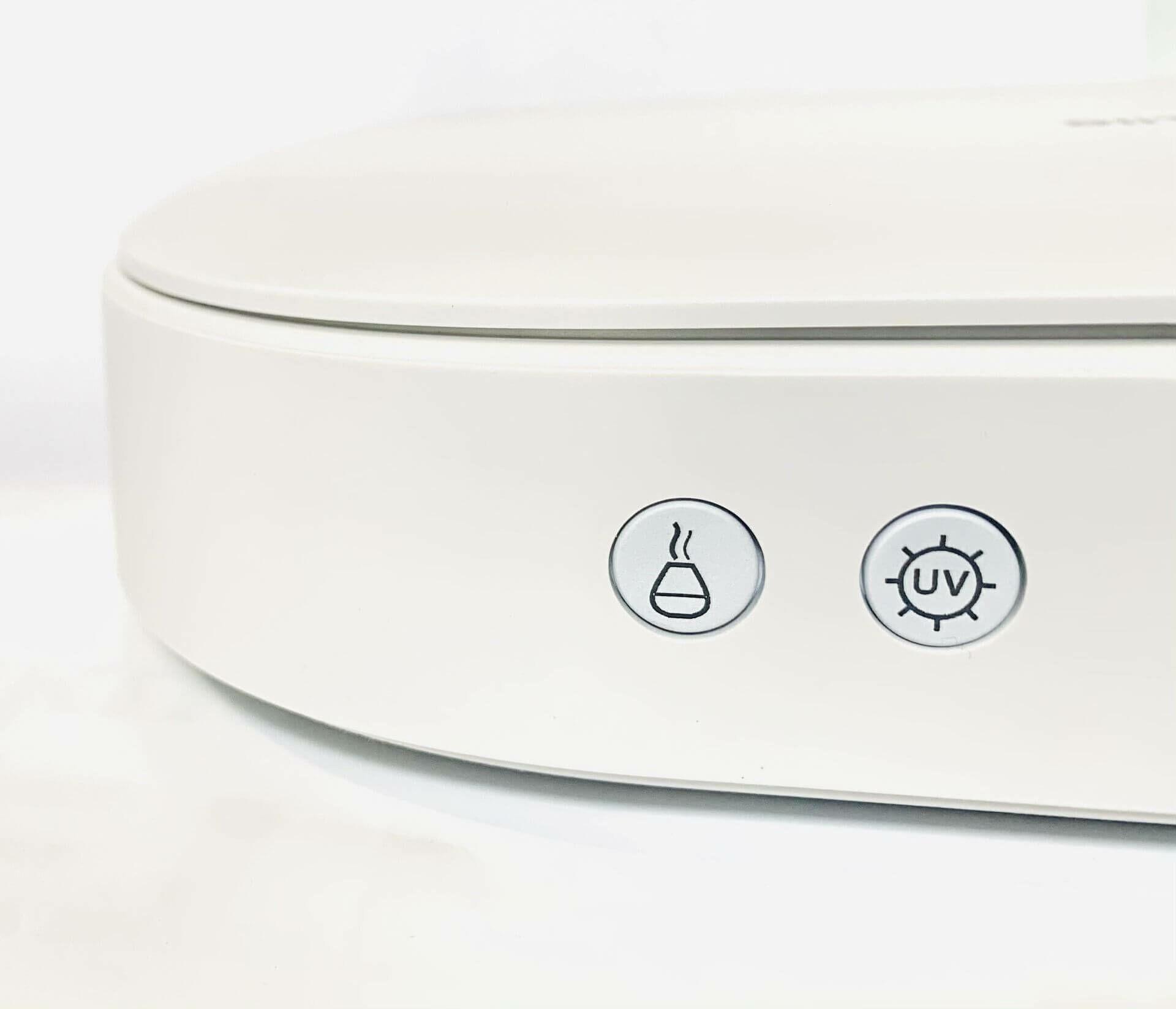 Eszközfertőtlenítő gombjai, UV fény és aromaterápia gomb