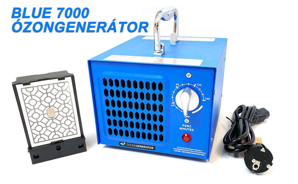 Blue 7000  Ozonegenertator típusú ózongenerátor készülék  ózonkazettával és tápkábellel
