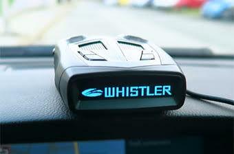 Whistler radardetektor autóban
