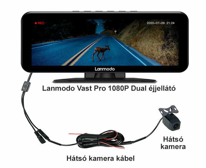 Tolatókamera és kábele a Lanmodo éjjellátó készülékhez