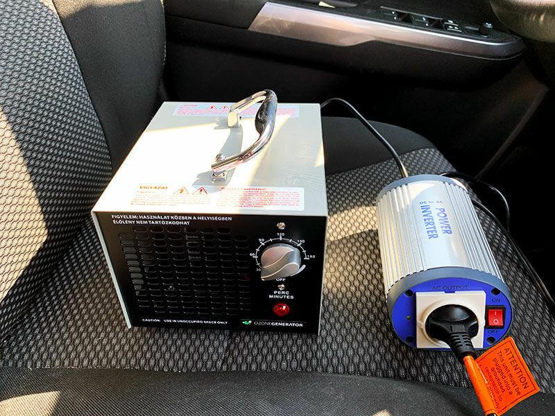 Inverter és ózongenerátor használat közben az autóban