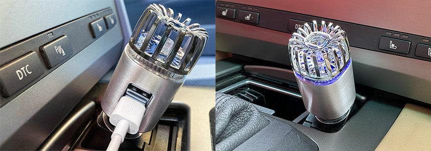 Ionkini Y ionizátor autóba