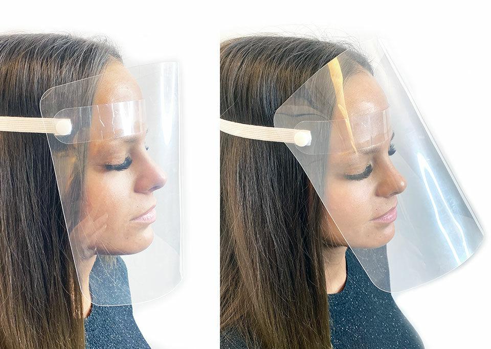 Plexi maszk állítható dőlésszöggel